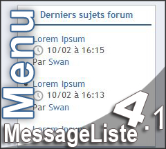 [Menu] MessageListe