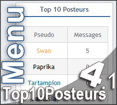 [Menu] Top10Posteurs