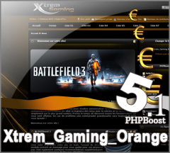 Thème Xtrem_Gaming_Orange